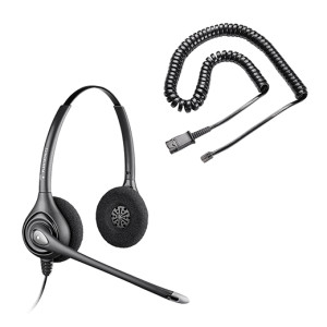 Kit Supra Plus HW261N Cable Resortado Plantronics
